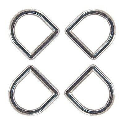 100 - Country Brook Design® 1cm Die Cast Square Bottom D-Rings. Free Shipping