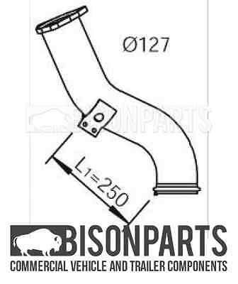 """BP103-643 22137 /""""DAF LF55.180 EXHAUST FRONT DOWN PIPE 1401696"""