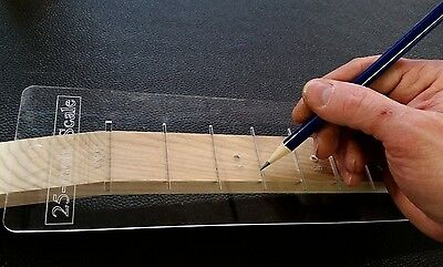 60cm Fretting Scale Marking Template for Guitars - Laser-cut-Acrylic - Popular S