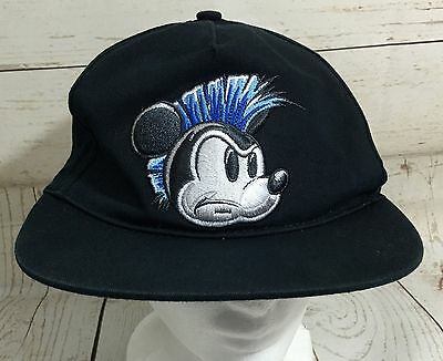 Walt Disney Parks Youth Mickey Mouse With Mohawk Baseball Hat Cap Navy Blue