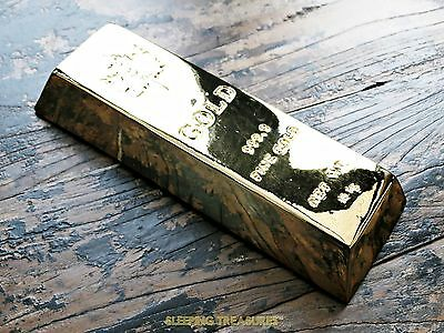 Full Size Decorative Gold Bar. Very Quirky & Fantastic Different Gift!
