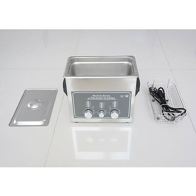 STON 110V Stainless Steel 3L Industry Heated Ultrasonic Cleaner Heater Timer New