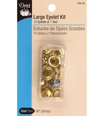 Dritz(R) Eyelets With Tool - Gilt. Delivery is Free