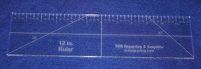 30cm Ruler --Template ~0.6cm - Clear Acrylic - Quilting/sewing. Brand New