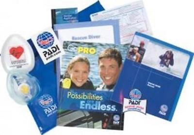 PADI Rescue Diver Crew Pack with Rescue Mask Training Materials for Scuba Dive