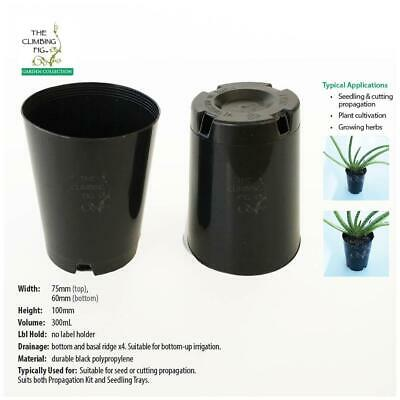 75mm Round Black Plastic Tube Pots For seed, seedling & cutting propagation