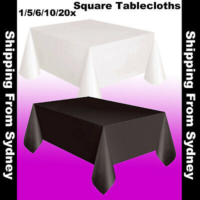 Tablecloths Rectangle White Black Wedding Event Table Cloths Cover Banquet Party
