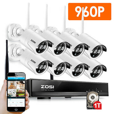 ZOSI 4CH AHD 720P DVR with 4 1500TVL Bullet CCTV Security Camera System 500G HDD