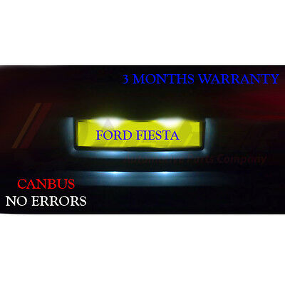 *Ford Fiesta Mk 6 Mk6 License Number Plate LED Light Bulbs - Xenon White 36mm