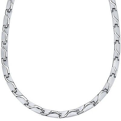 Rugged Appeal Titanium Mens Wave Pattern Flat Link 50.8cm Chain Necklace. Shippi