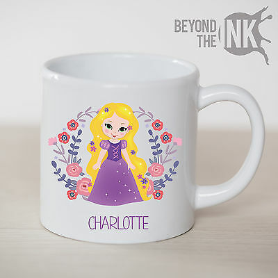 Personalised Kids Children's Princess Tangled Rapunzel Small Plastic Cup
