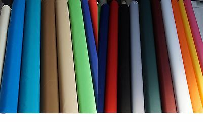 Waterproof Tablecloth Plain Fabric Kitchen/Garden ALL SIZES Round Rectangle Oval