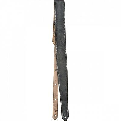 Fender Road Worn Distressed Leather Guitar Strap Black. Free Delivery
