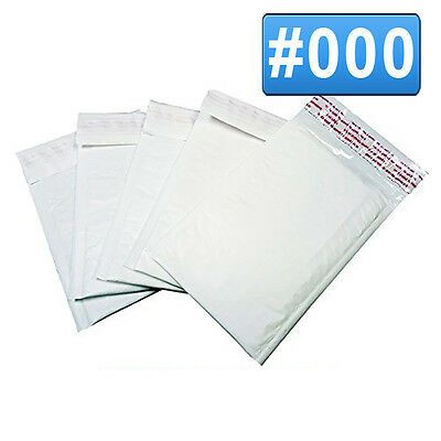 50 #000 4x8 Poly Bubble Mailers Self Seal Padded Plastic Envelopes Shipping bags