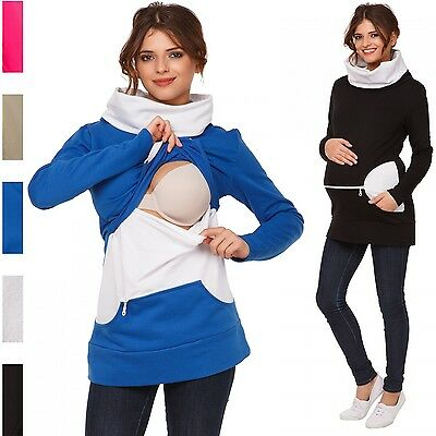 Happy Mama. Women's Nursing Sweatshirt Breastfeeding Layered Top Maternity. 073p