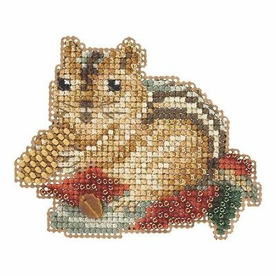 Chippy Beaded Halloween Counted Cross Stitch Kit Mill Hill 2105 Autumn Harvest M
