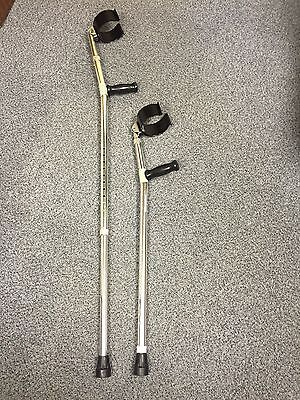 Double Adjustable Elbow Crutches Lightweight Crutches - 2 crutches included