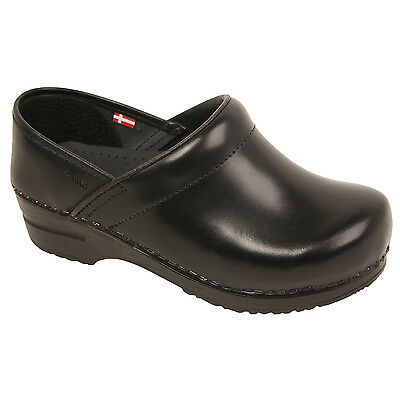 Sanita Women's Professional formal Ladies work shoes Closed Back leather clogs