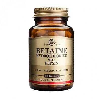 Solgar Betaine Hydrochloride with Pepsin Tablets 100