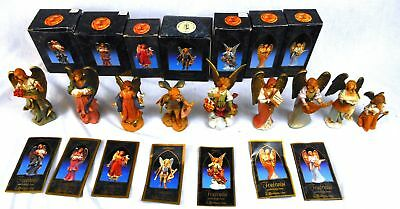 "9 Fontanini 5"" Nativity Angel Figurines  w/Story Cards: & Others"