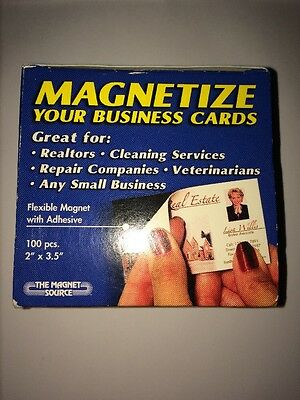 100 Adhesive Business Card Magnets Magnet Cards