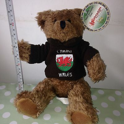 Soft TEDDY BEAR / Wales / CYMRU Soft Toy Quality WELSH Souvenir GIFT Present