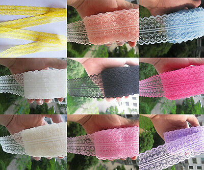 Wholesale!10 Yard Bilateral Handicrafts Embroidered Net Lace Trim Ribbon