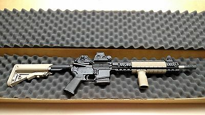 "49.5"" X 9.75"" X 3.625"" Foam Lined Corrugated Rifle Shipping Container Box"