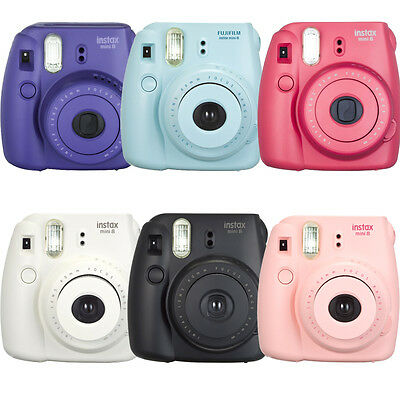 Fujifilm Instax mini 8 Fuji Instant Film Camera, Pink, Red, Purple, White, Black