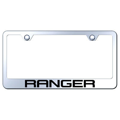 License Plate Frame with Ford Ranger on Stainless Steel [Officially Licensed]