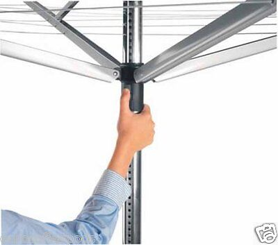 Brabantia Lift O Matic 60m Rotary Clothes Airer Washing Line COVER & SPIKE