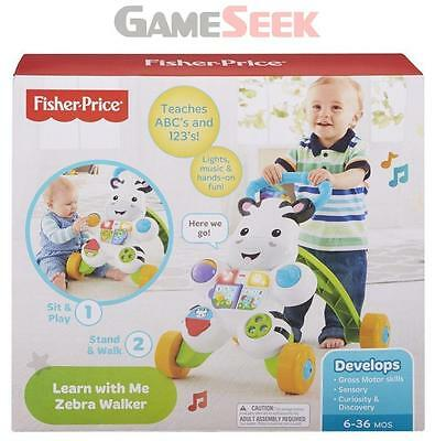 Fisher Price Learn With Me Zebra Walker | Free Delivery Brand New Toys Walkers