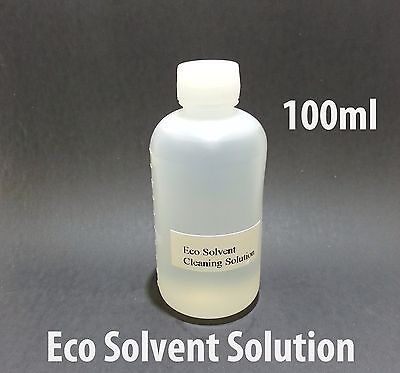 Eco Solvent Cleaning Solution 100ml For Mimaki Roland Mutoh Epson Ink Line Head