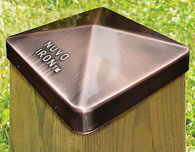 "Nuvo Iron PCP21CV CASE OF 72 4"" x 4"" COPPER EAZY POST CAPS FOR 3.5"" x 3.5"""