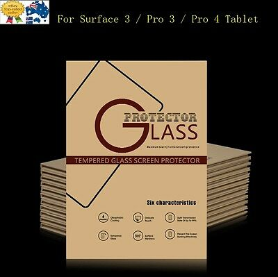 AU New Tempered Glass LCD Screen Protector For Surface 3 / Pro 3 / Pro 4 Tablet