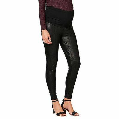 NEW Maternity by Dannii Minogue Textured Belly Band Legging - Black