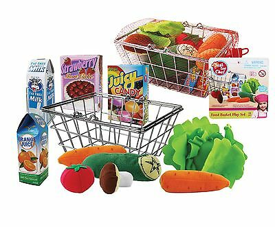 Brand New Shopping Basket In Net Bag Food Accessories Pretend Play Kitchen