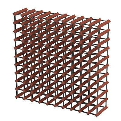 110 Bottle Timber Wine Rack - Dark Mahogany -  Fully Assembled & Delivered