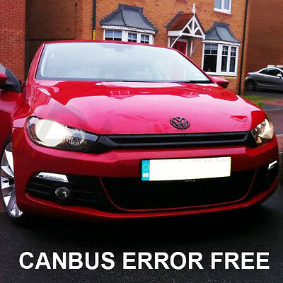 *VW SCIROCCO XENON COOL WHITE LED SIDELIGHT BULBS CANBUS ERROR FREE 8 SMD R TDI