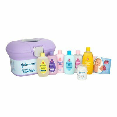 Johnson's Baby Skincare Essentials Box Changing Case Gift Shower Party Brand New