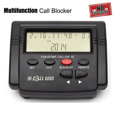 Pro Incoming Call Blocker Telephone Defense w LCD Display 1500 Blacklist Numbers