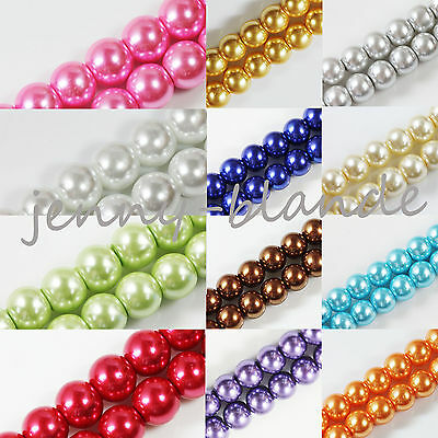 Hot Fashion Wholesale Glass Pearl Round Spacer Loose Beads 4mm/6mm/8mm/10mm