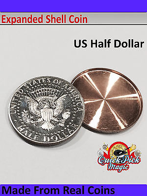 US HALF DOLLAR EXPANDED COIN SHELL / 50 CENT EXPANDED SHELL MADE FROM REAL COINs