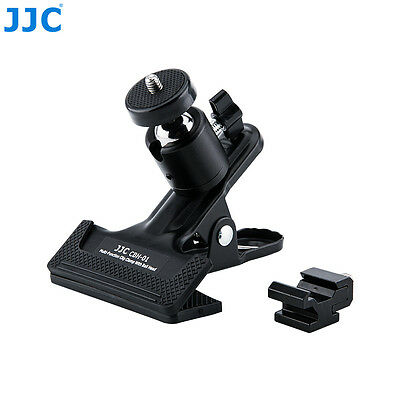 JJC Multi-Function Metal Clip Clamp Holder With Ball Head For DSLR Camera Flash