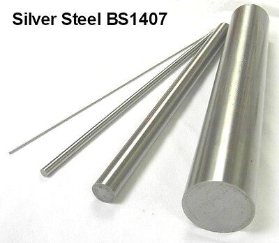 Metric Silver Steel Round Bar 100mm + 333mm Lengths - Ground Shaft Rod BS1407.