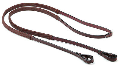 Selleria EQUIPE EMPORIO Leather + Rubber REINS REE01 Black/Brown/Newmarket P/C/F