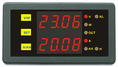 DC AMP Volt Ampere Hour Meter Battery Monitor Prevent Over-charge Over-discharge