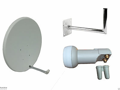 90CM Satellite Dish With Wall Mount & Twin LNB