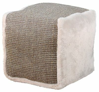 "Plush Playing Cube Cat Scratcher with Fleece Filling Light Grey 30cm (11.75"")"