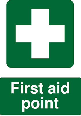 First Aid Point Sign - A4 Health And Safety Sign Waterproof Vinyl Sticker
